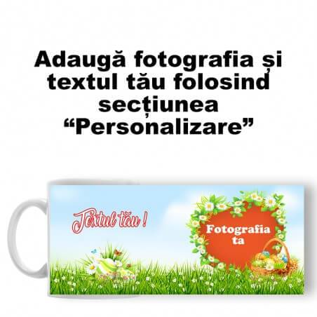 "Cană Personalizată - Model Paște ""Nature Easter"""